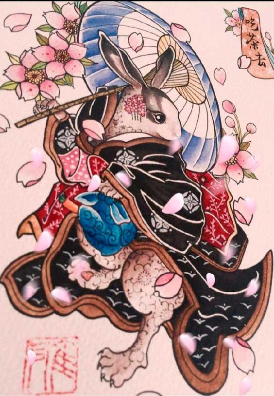 Эскизы тату япония
