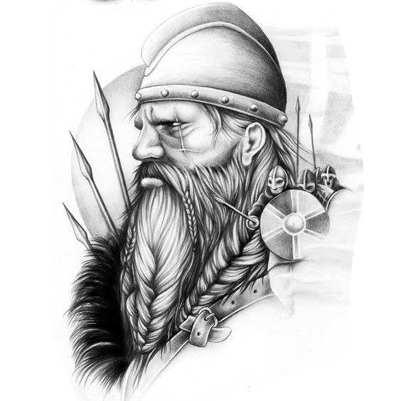 Эскизы тату скандинавия