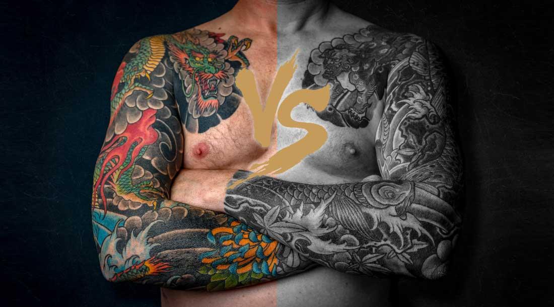 Какую татуировку выбрать: цветную или черно-белую