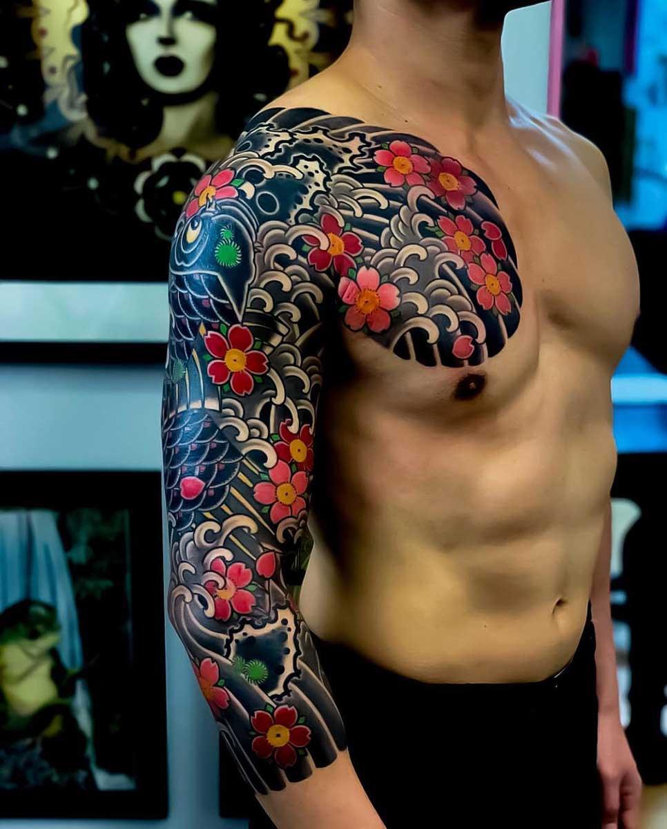 Тату в стиле Япония 3