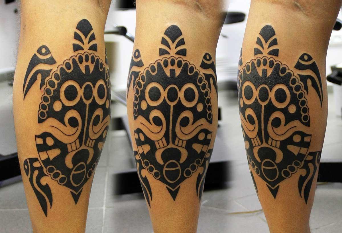 Тату в стиле Полинезия 9