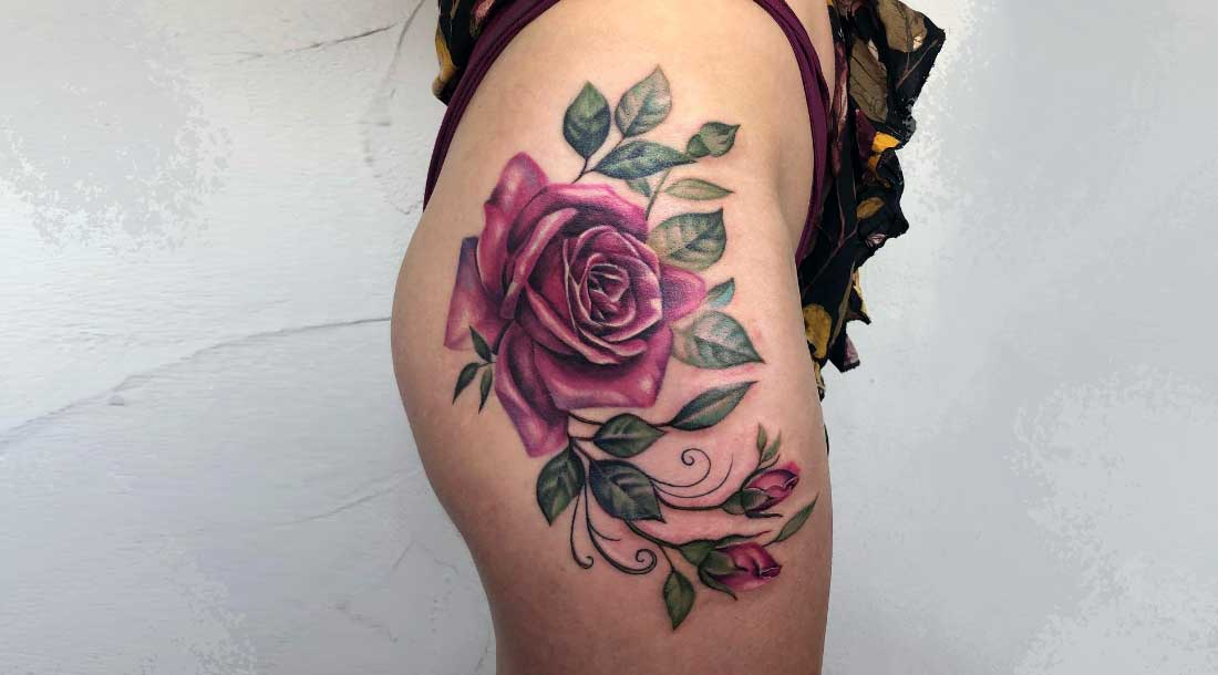 Перекрытие растяжек татуировкой 3