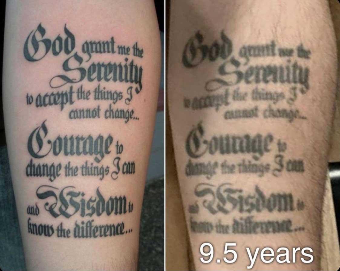 Как выглядят татуировки через время в стиле леттеринг 2