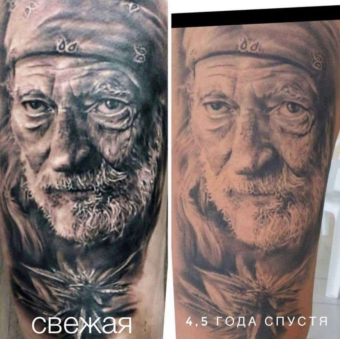 Как выглядят татуировки через время в стиле реализм 3
