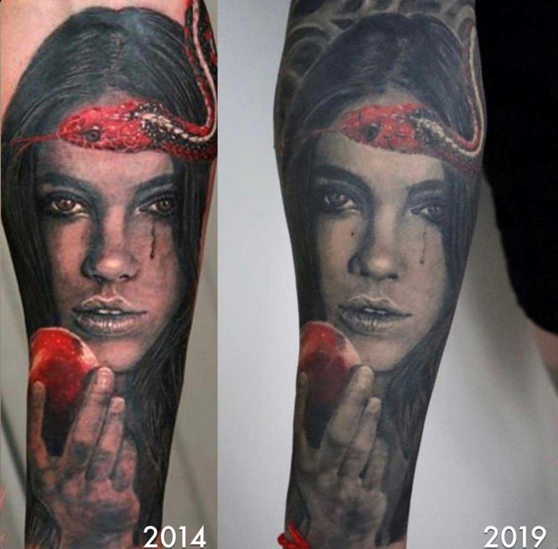Как выглядят татуировки через время в стиле реализм 2