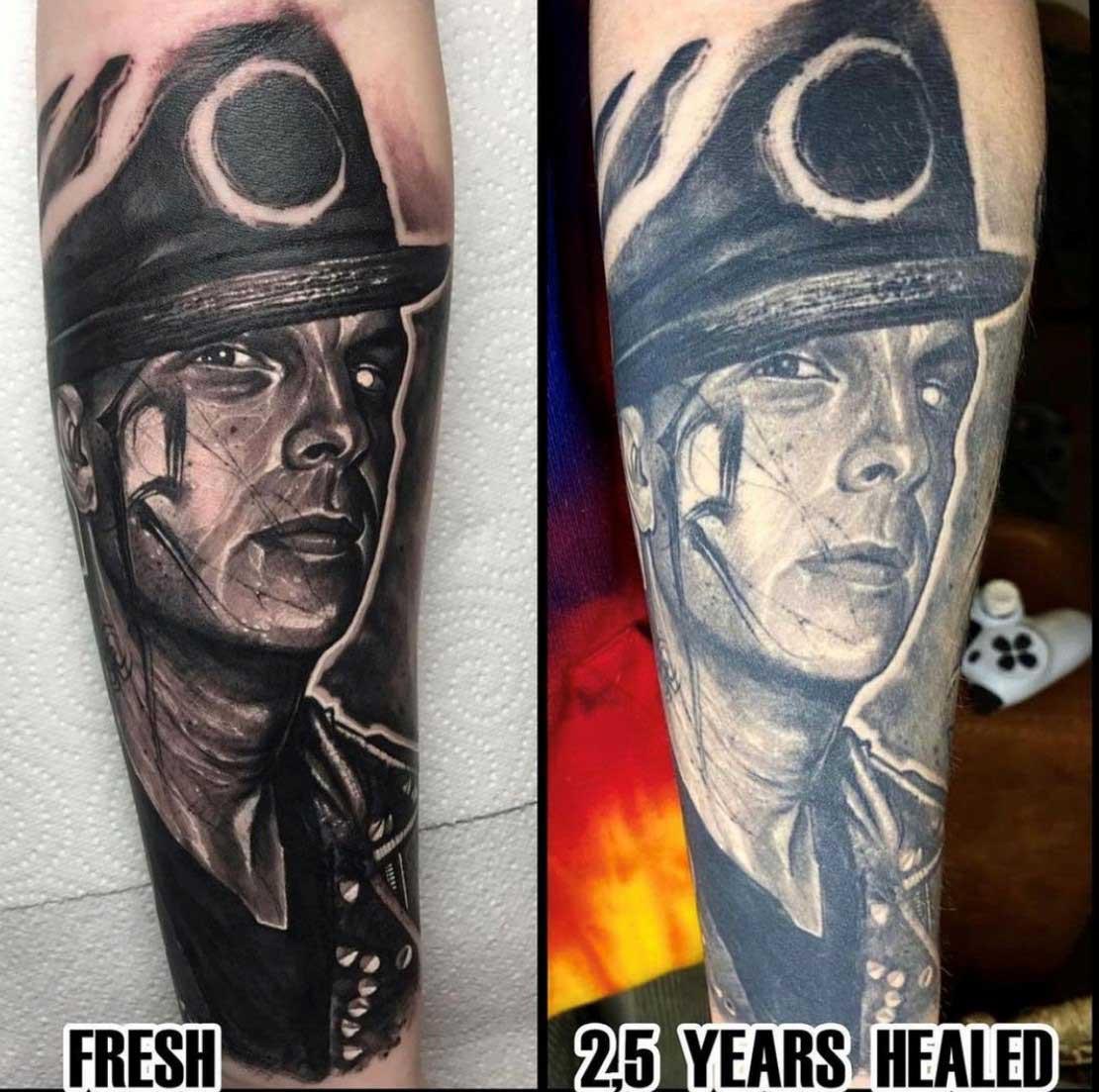 Как выглядят татуировки через время в стиле реализм 1